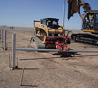 The Double Pole Claw is being used with Solar Panel Installation