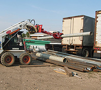 The Double Pole Claw eliminates the need for cranes or slings