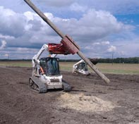 The Heavy Duty Pole Setter is used with Rural Electric Associations