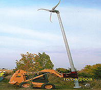 The Heavy Duty Pole Setter is used with Wind Tower Installation