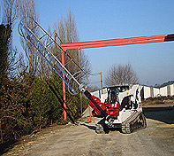 The Heavy Duty Pole Setter is used with Foundation Companies