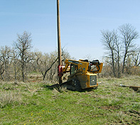 The Heavy Duty Pole Setter is used with Piling and Shoring